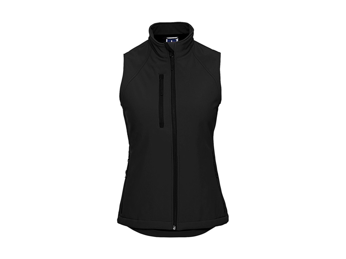 Russell Europe Ladies` Softshell Gilet, Black, XL bedrucken, Art.-Nr. 460001016