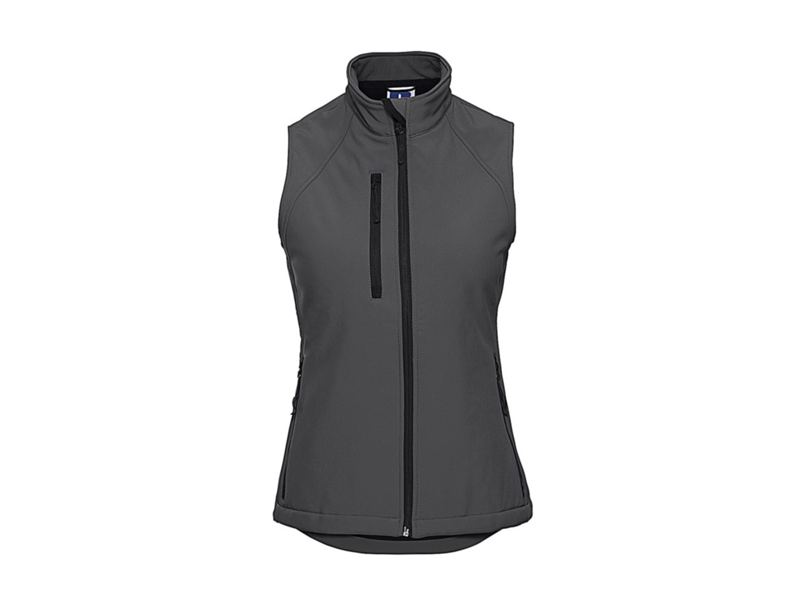Russell Europe Ladies` Softshell Gilet, Titanium, XL bedrucken, Art.-Nr. 460001396