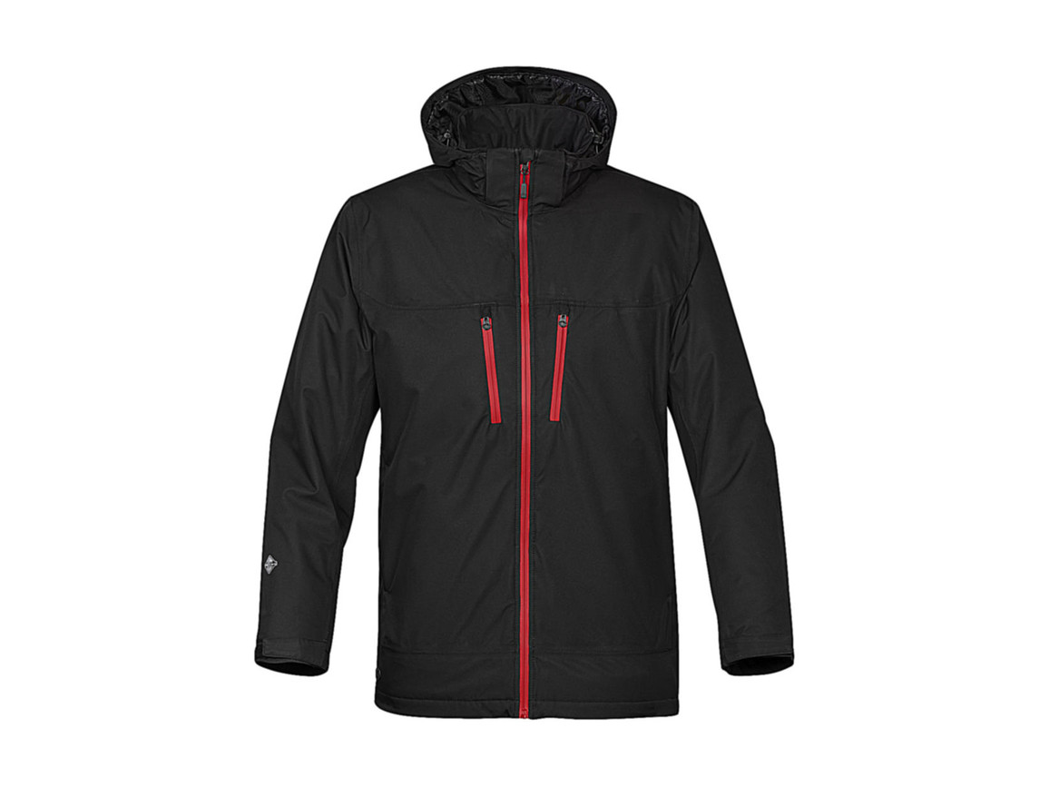 StormTech Snowburst Thermal Shell Jacket, Black/Red, 2XL bedrucken, Art.-Nr. 466181577