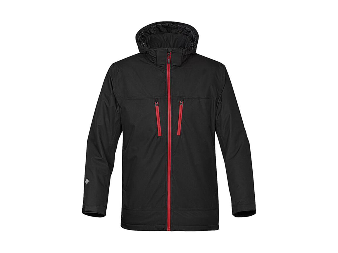 StormTech Snowburst Thermal Shell Jacket, Black/Red, M bedrucken, Art.-Nr. 466181574