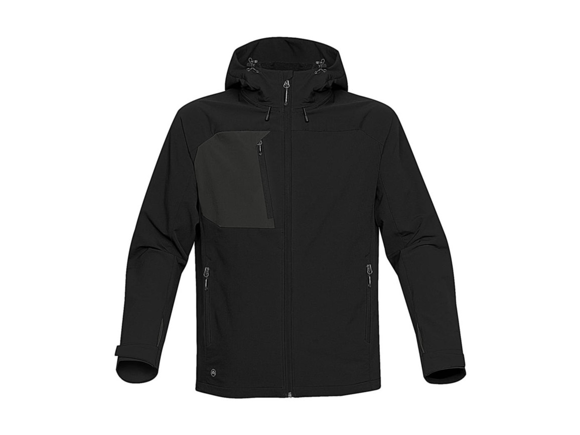 StormTech Sidewinder Softshell Jacket, Black/Black, XL bedrucken, Art.-Nr. 467181536