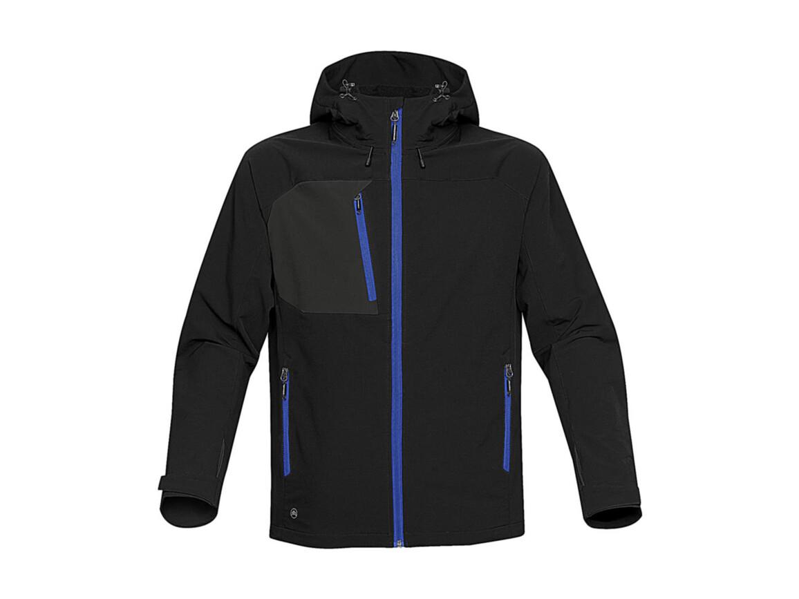 StormTech Sidewinder Softshell Jacket, Black/Azure, M bedrucken, Art.-Nr. 467181784