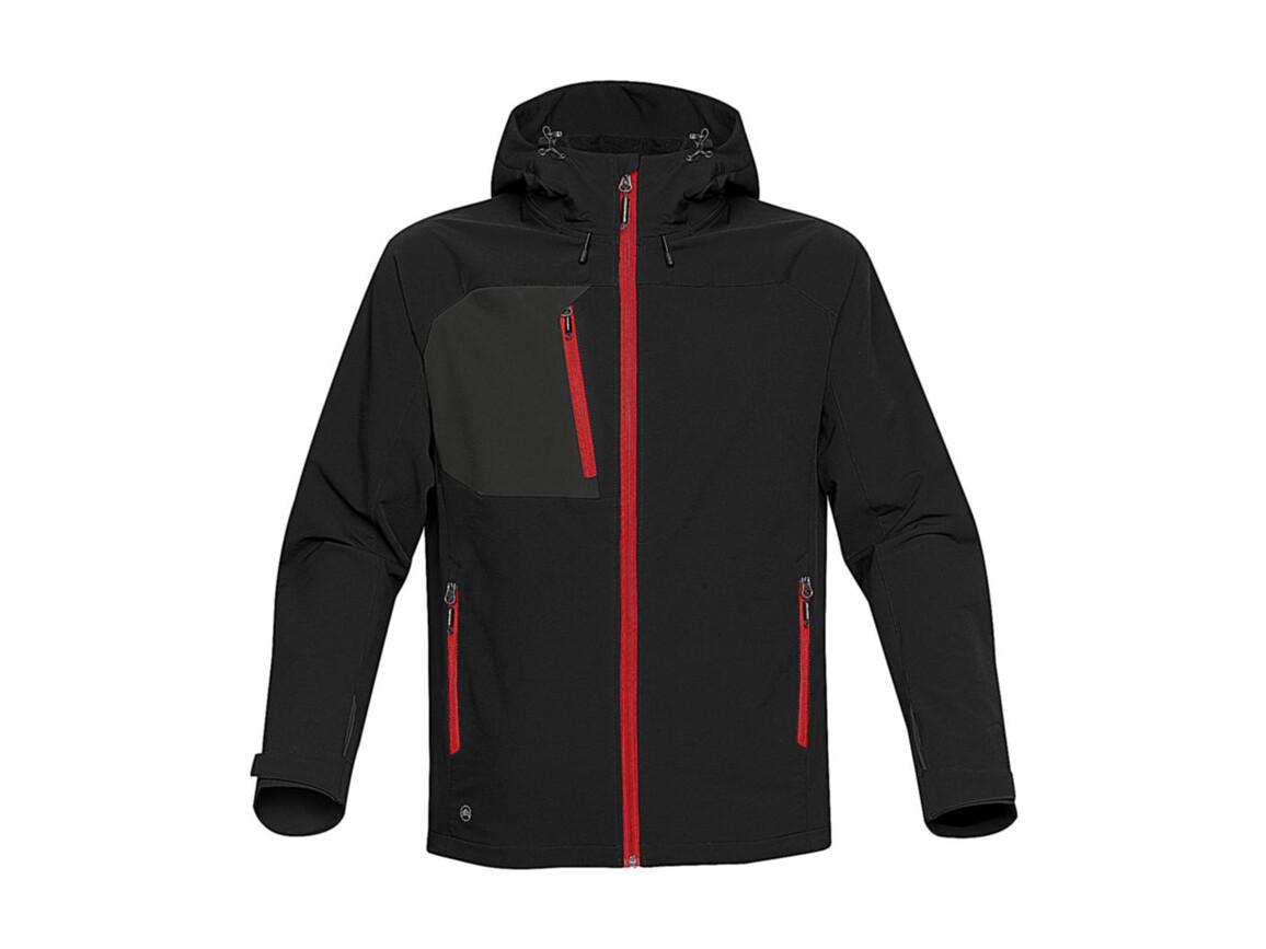 StormTech Sidewinder Softshell Jacket, Black/Bright Red, L bedrucken, Art.-Nr. 467181795