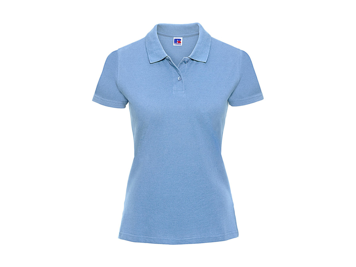 Russell Europe Ladies` Classic Cotton Polo, Sky, M bedrucken, Art.-Nr. 502003204
