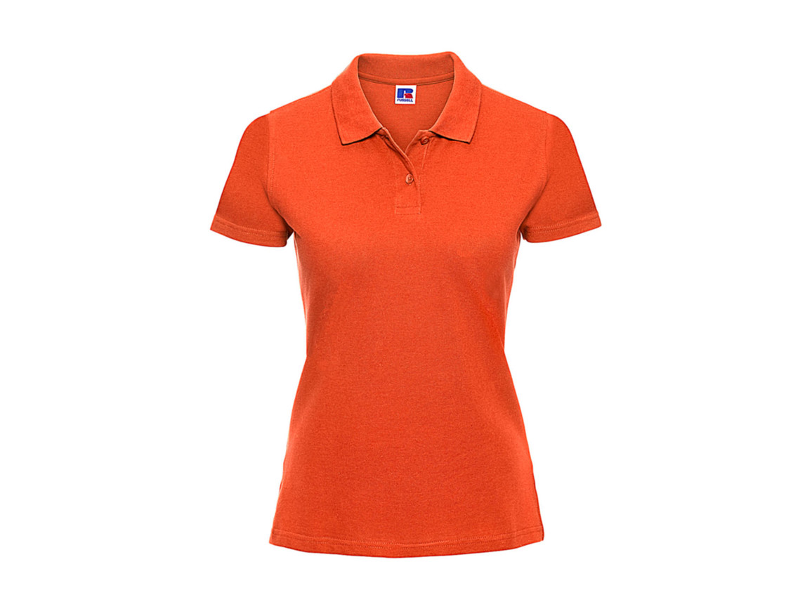 Russell Europe Ladies` Classic Cotton Polo, Orange, S bedrucken, Art.-Nr. 502004103