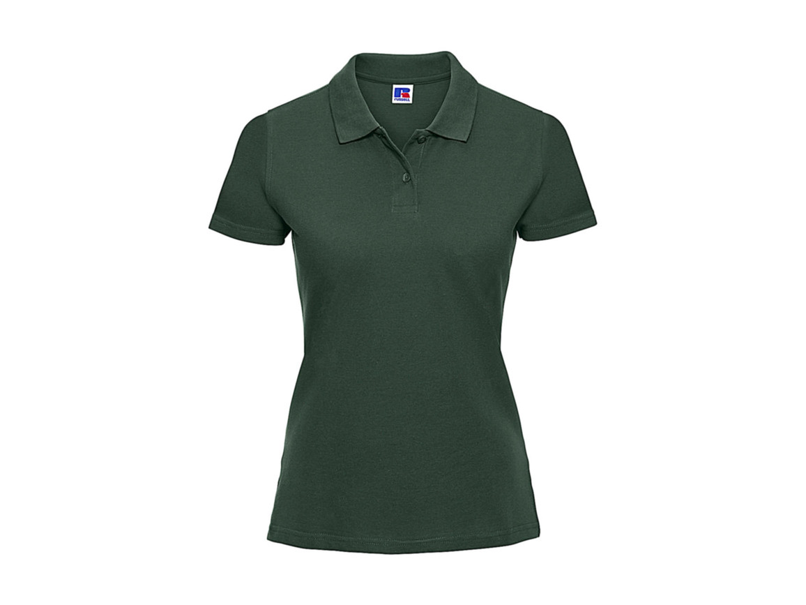 Russell Europe Ladies` Classic Cotton Polo, Bottle Green, XL bedrucken, Art.-Nr. 502005406