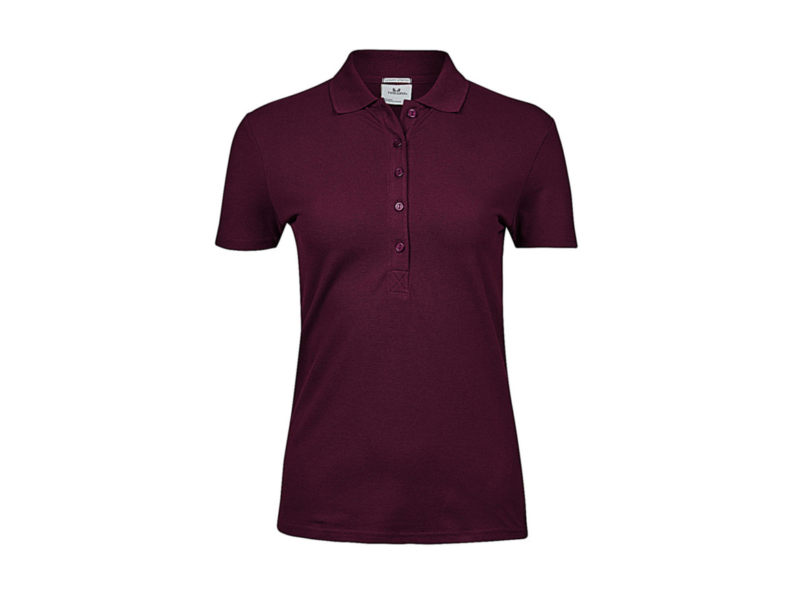 Tee Jays Ladies` Luxury Stretch Polo, Wine, 2XL bedrucken, Art.-Nr. 513544497