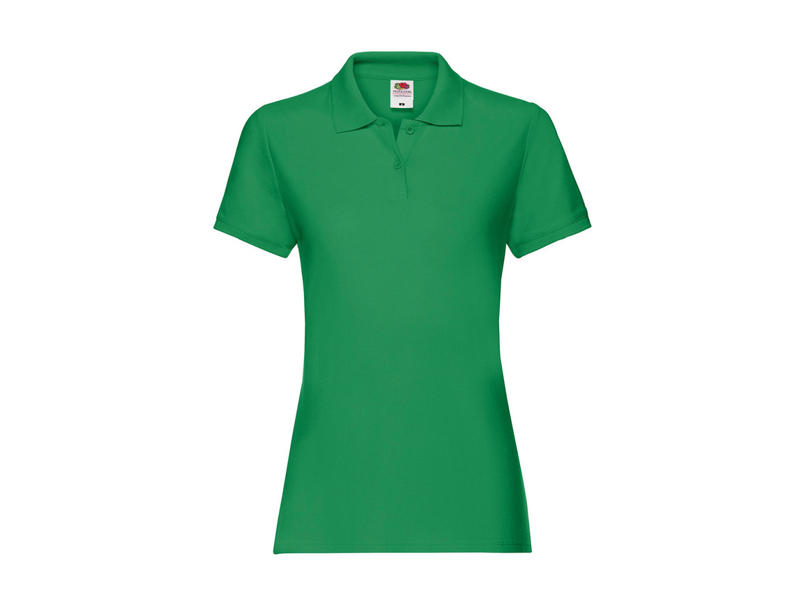 Fruit of the Loom Ladies` Premium Polo, Kelly Green, S (10) bedrucken, Art.-Nr. 528015183