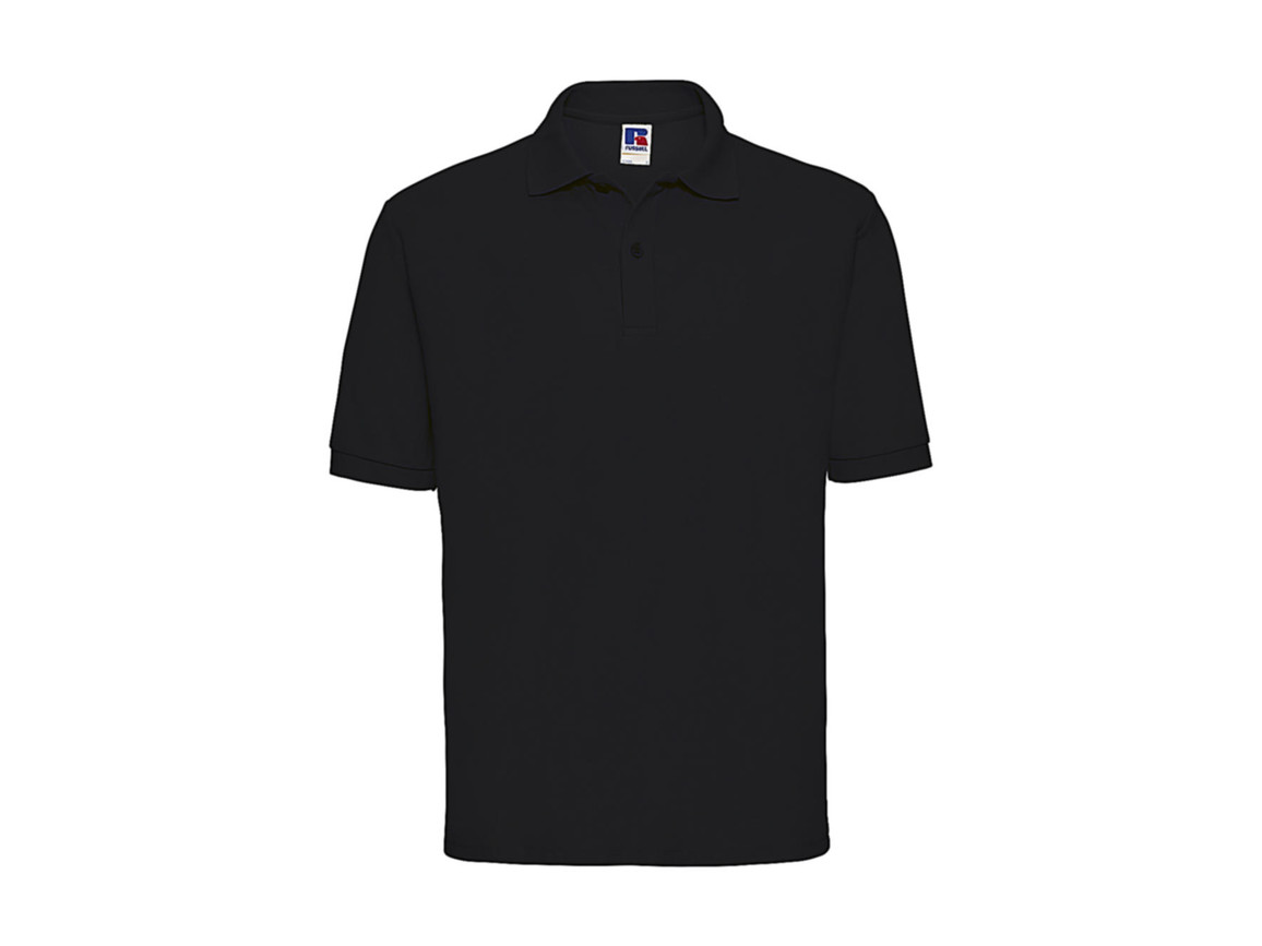 Russell Europe Men`s Classic Polycotton Polo, Black, 4XL bedrucken, Art.-Nr. 539001019
