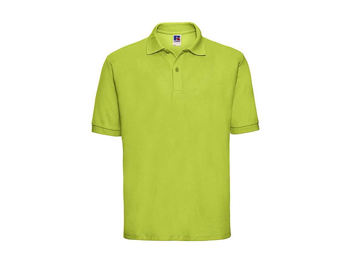 Russell Europe Men`s Classic Polycotton Polo, Lime, 2XL bedrucken, Art.-Nr. 539005217