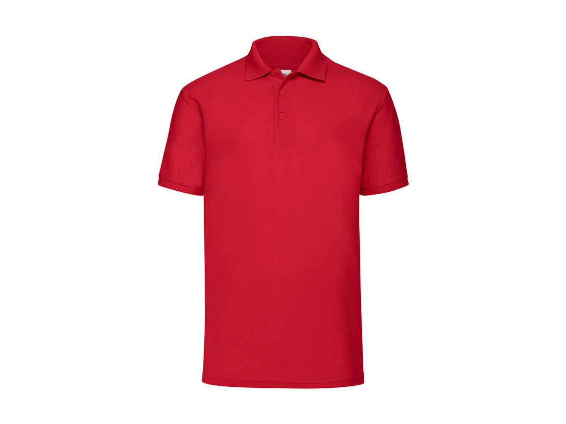 Fruit of the Loom 65/35 Polo, Red, M bedrucken, Art.-Nr. 539014004
