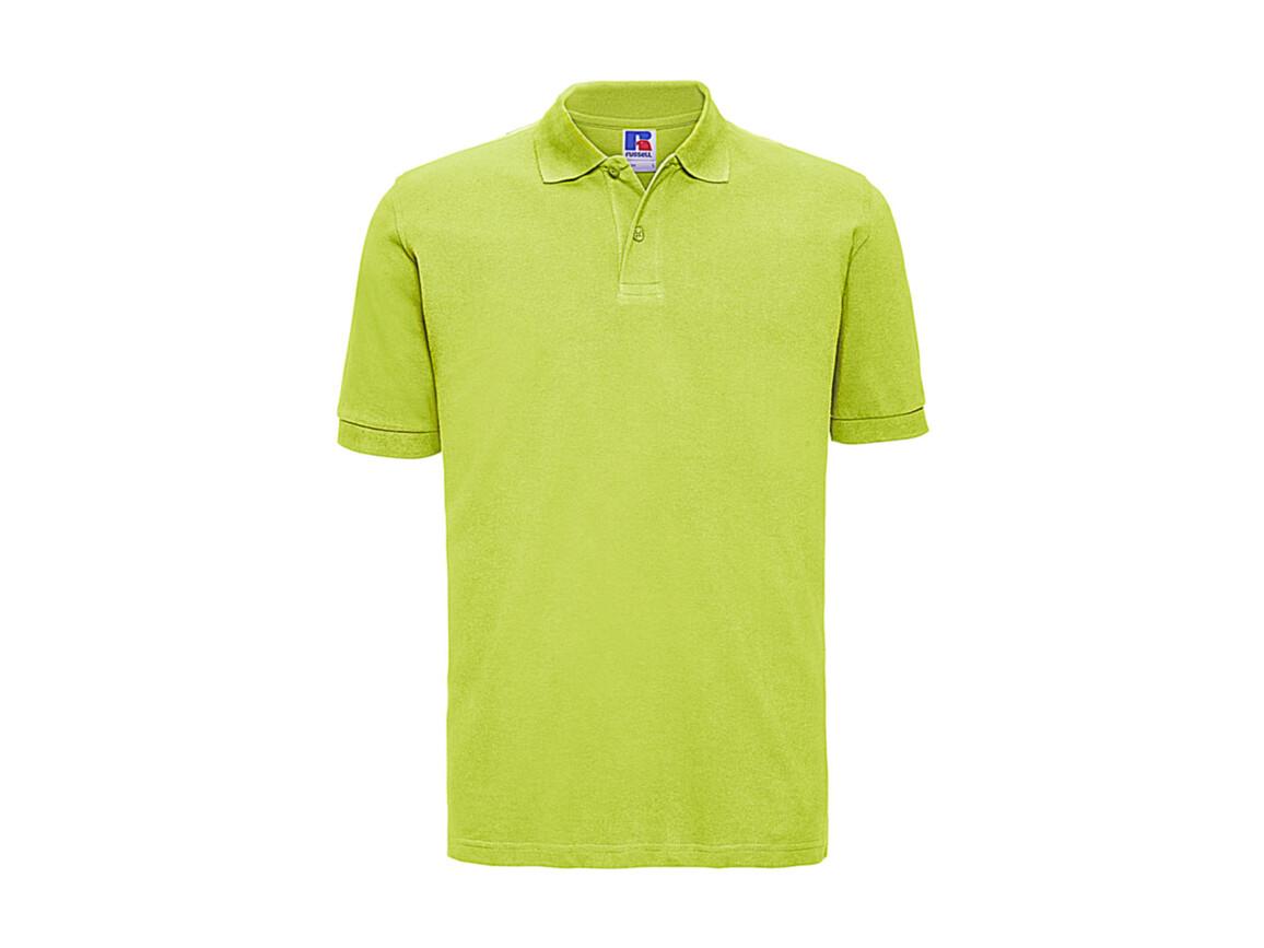 Russell Europe Men`s Classic Cotton Polo, Lime, L bedrucken, Art.-Nr. 549005215