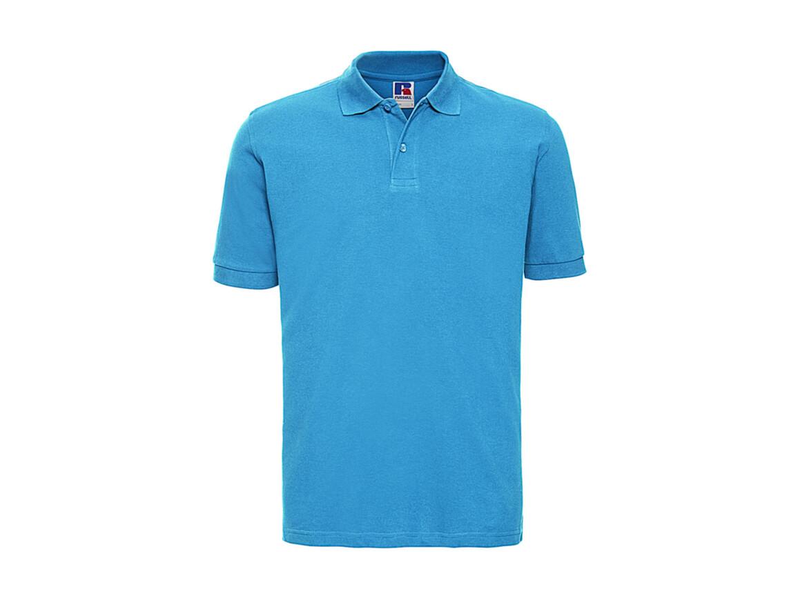 Russell Europe Men`s Classic Cotton Polo, Turquoise, 2XL bedrucken, Art.-Nr. 549005367
