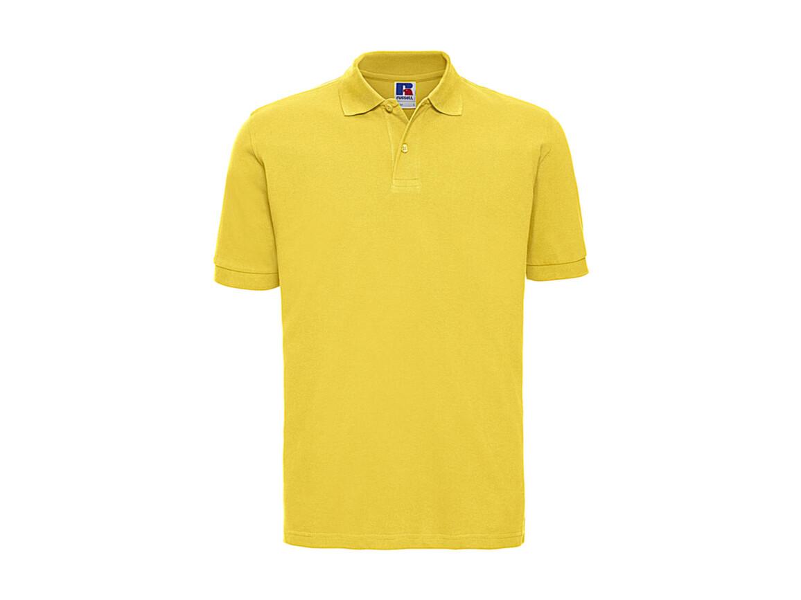 Russell Europe Men`s Classic Cotton Polo, Yellow, 2XL bedrucken, Art.-Nr. 549006007
