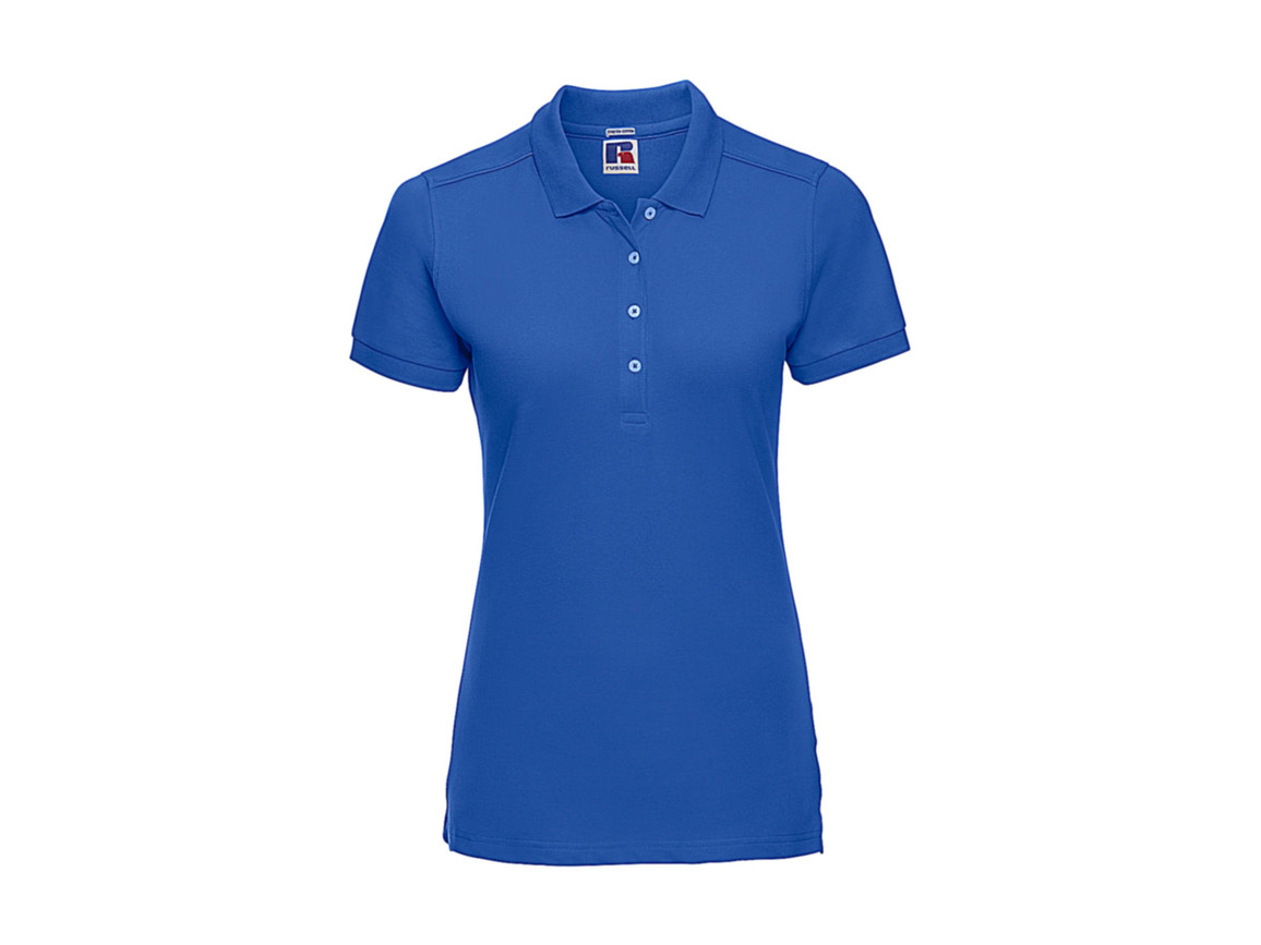 Russell Europe Ladies` Fitted Stretch Polo, Azure, XL bedrucken, Art.-Nr. 566003166