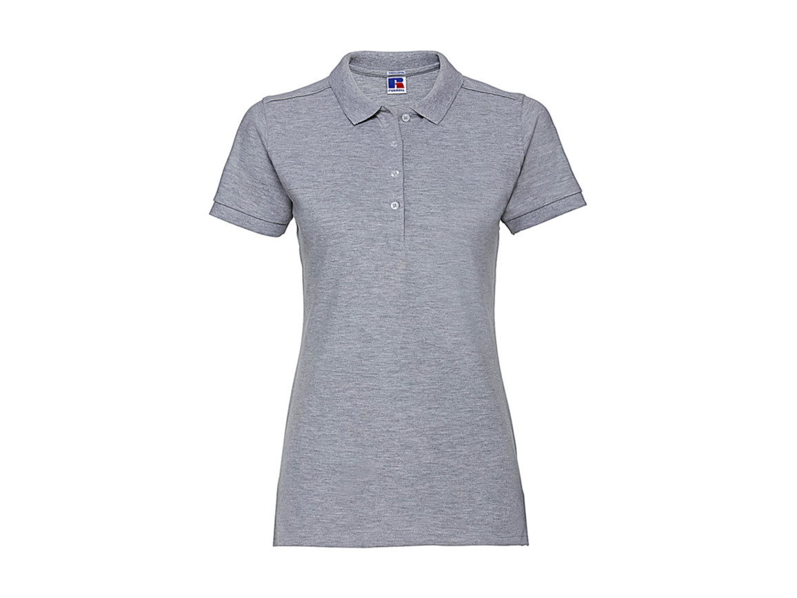 Russell Europe Ladies` Fitted Stretch Polo, Light Oxford, XL bedrucken, Art.-Nr. 566007196