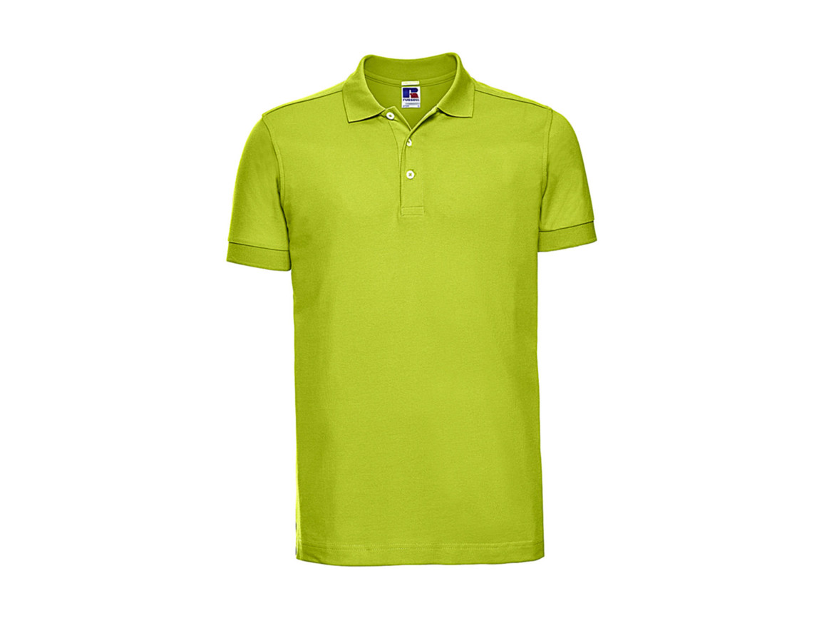 Russell Europe Men`s Fitted Stretch Polo, Lime, 2XL bedrucken, Art.-Nr. 567005217