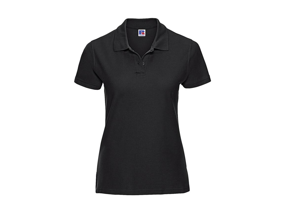 Russell Europe Better Polo Ladies`, Black, S bedrucken, Art.-Nr. 578001013