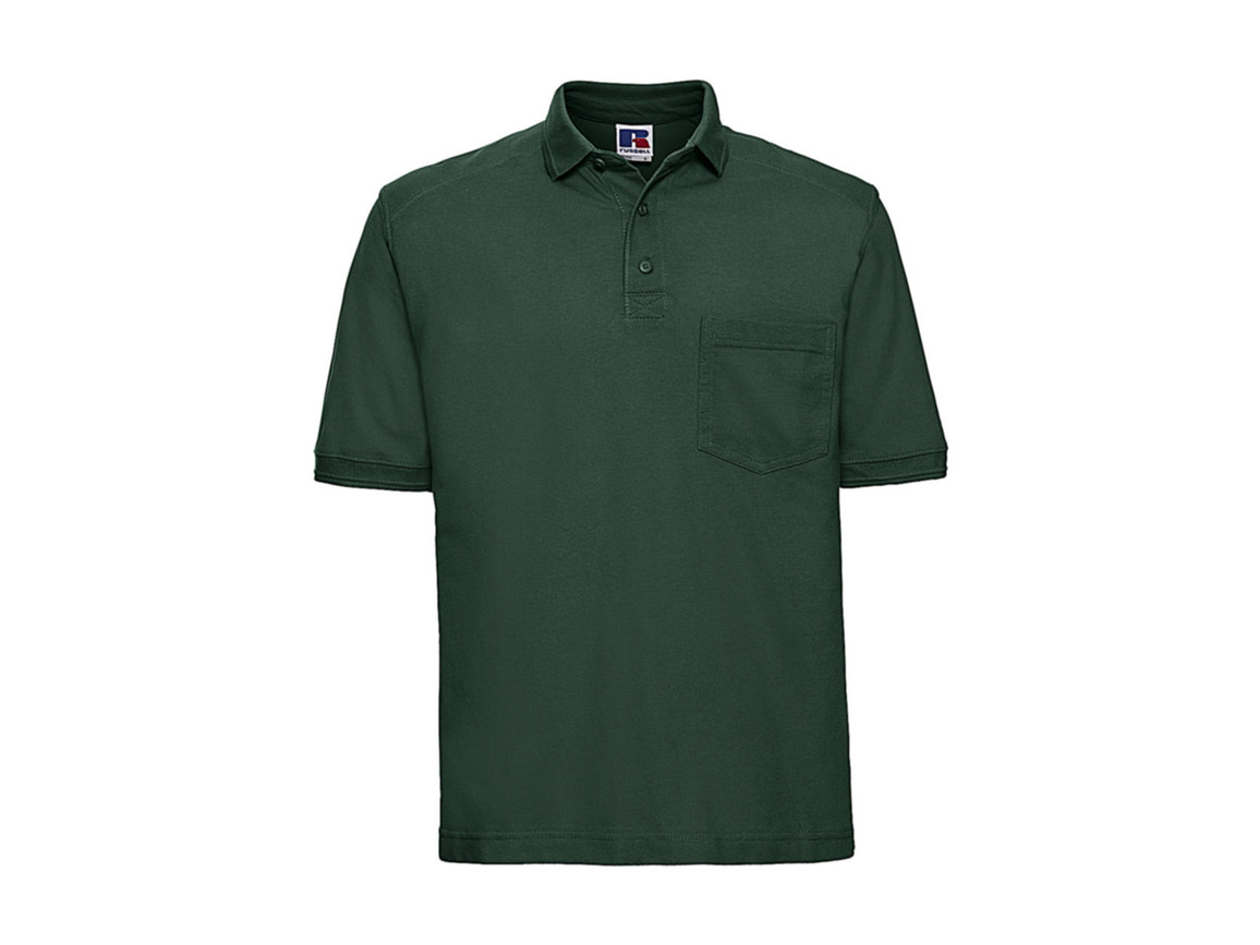 Russell Europe Workwear Polo Shirt, Bottle Green, 3XL bedrucken, Art.-Nr. 590005408