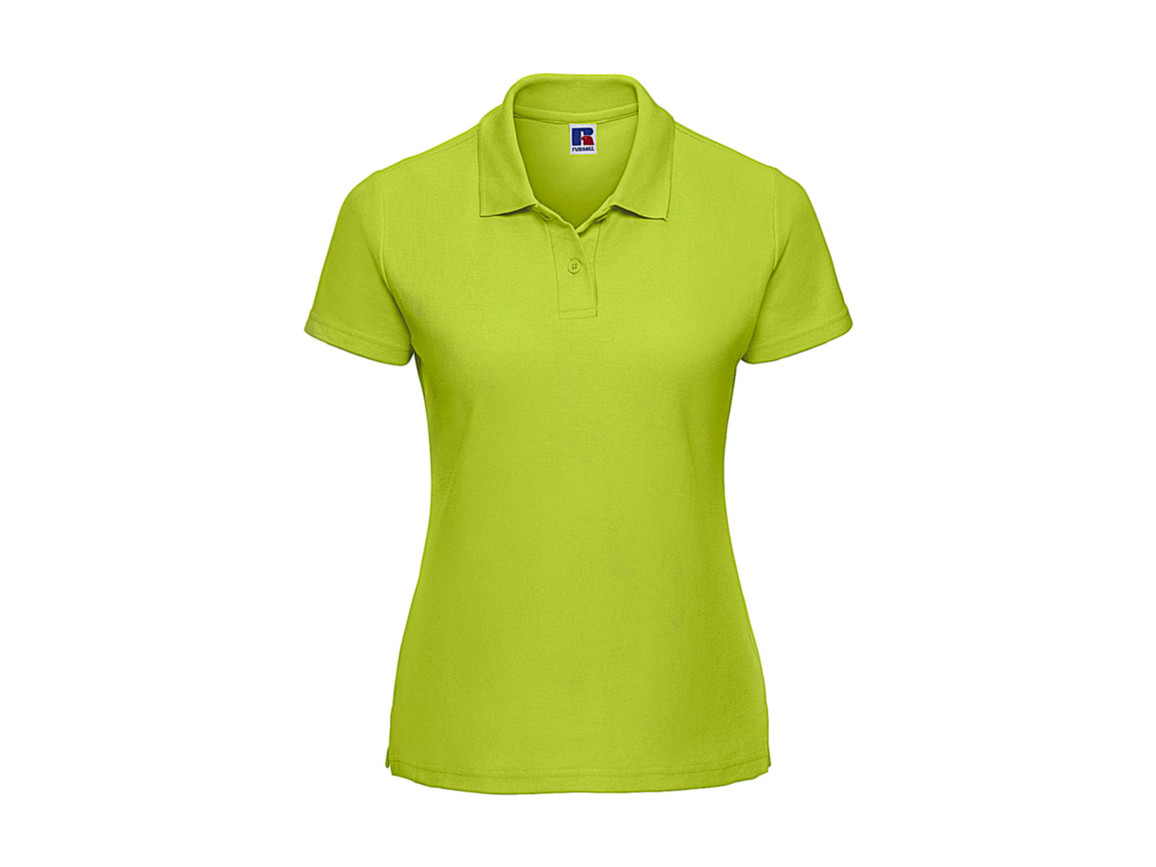 Russell Europe Ladies` Classic Polycotton Polo, Lime, L bedrucken, Art.-Nr. 593005215
