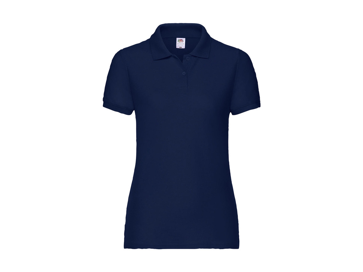 Fruit of the Loom Ladies` 65/35 Polo, Navy, L bedrucken, Art.-Nr. 593012005