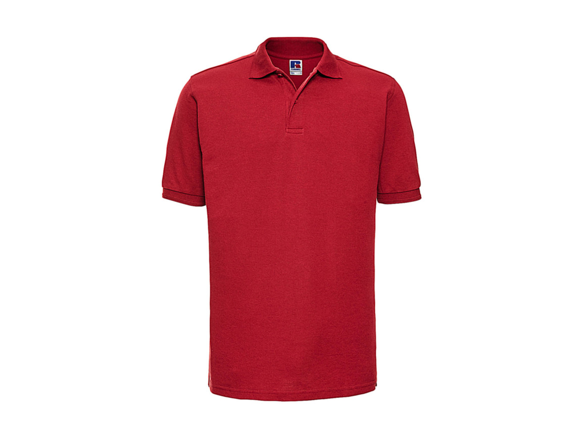 Russell Europe Hardwearing Polo - up to 4XL, Bright Red, XS bedrucken, Art.-Nr. 599004072