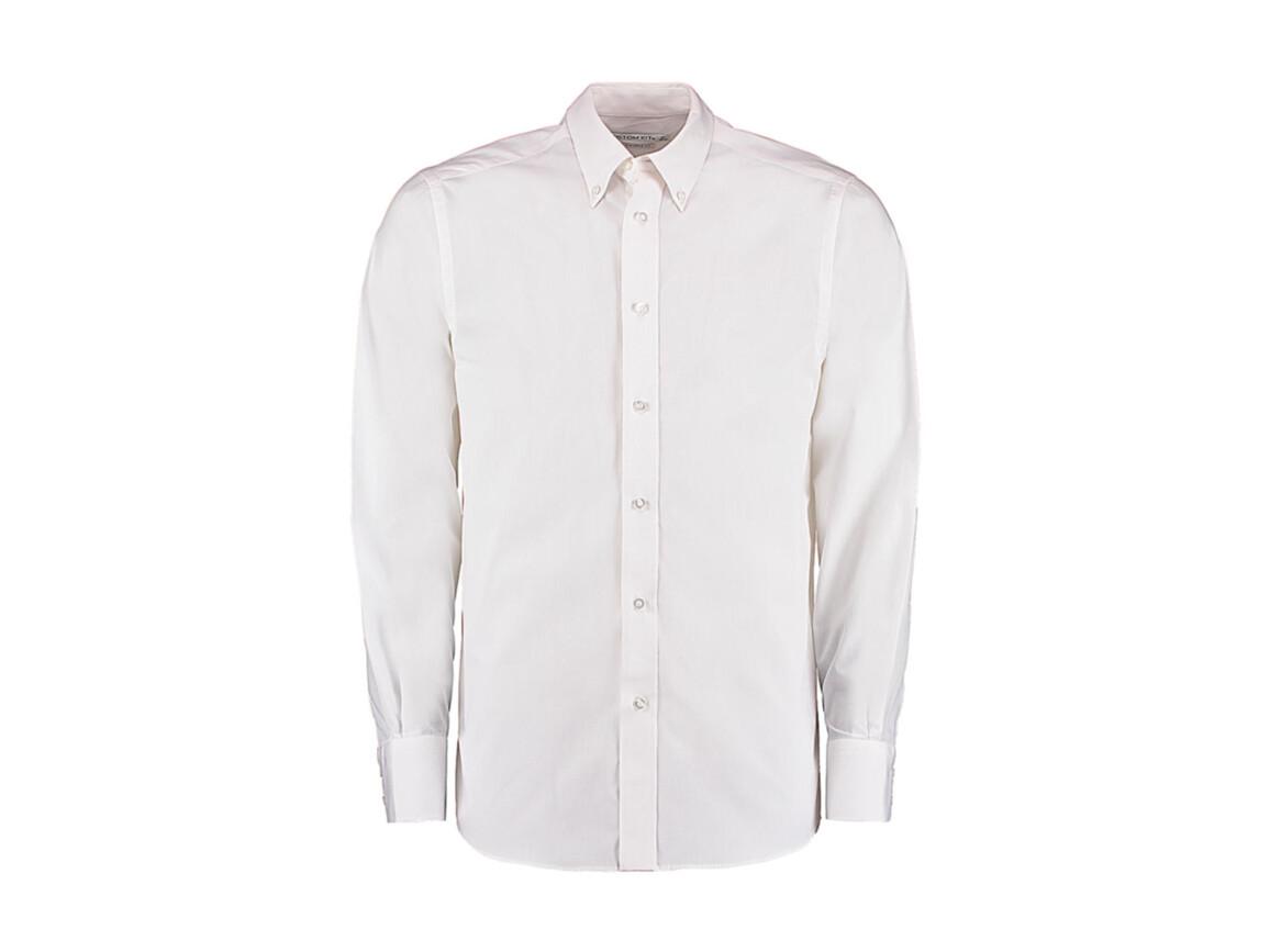 Kustom Kit Tailored Fit City Shirt, White, S bedrucken, Art.-Nr. 724110000