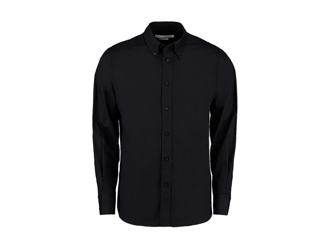 Kustom Kit Tailored Fit City Shirt, Black, L bedrucken, Art.-Nr. 724111014