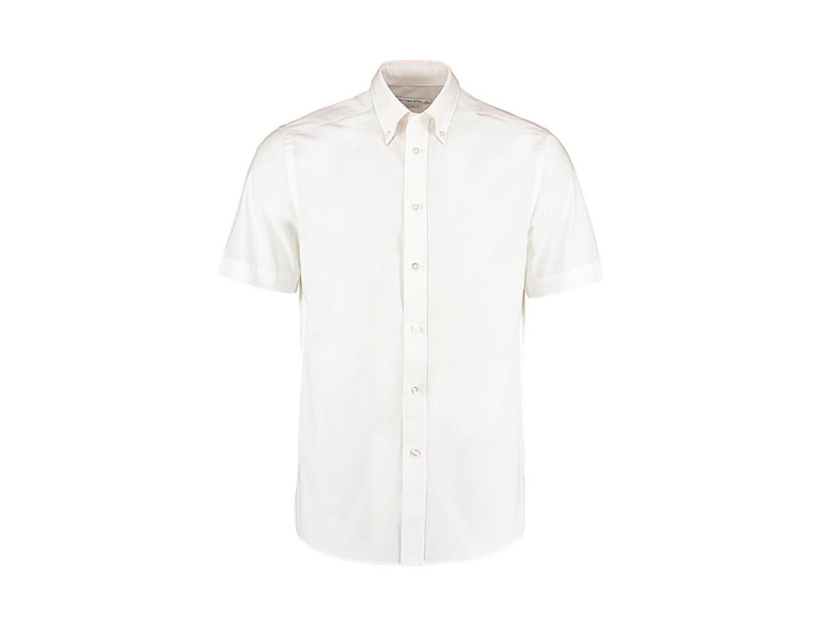 Kustom Kit Tailored Fit City Shirt SSL, White, M (39/40cm) bedrucken, Art.-Nr. 725110002