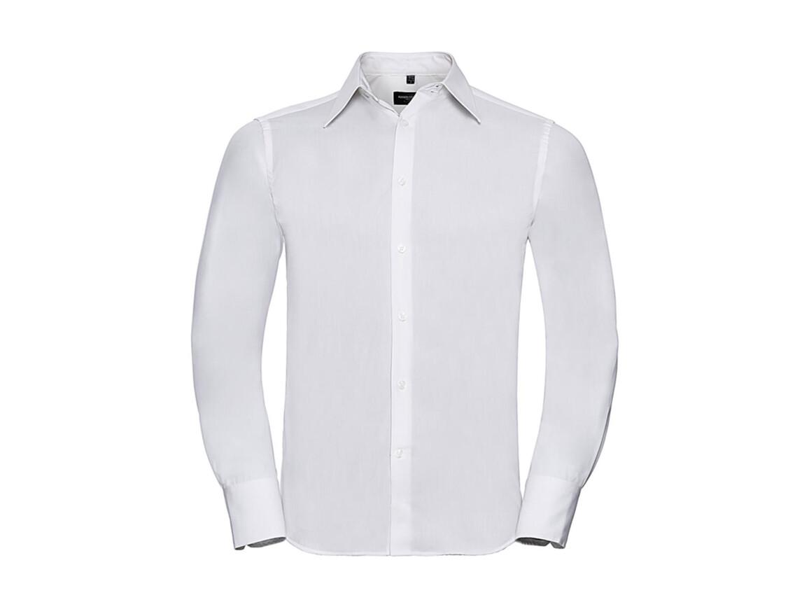 Russell Europe Tencel® Fitted Shirt LS, White, 4XL bedrucken, Art.-Nr. 754000009