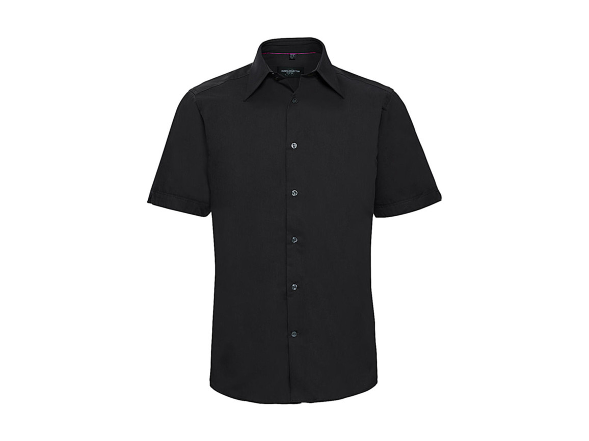 Russell Europe Tencel® Fitted Shirt, Black, M bedrucken, Art.-Nr. 755001014