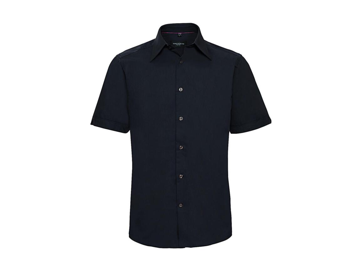 Russell Europe Tencel® Fitted Shirt, Navy, L bedrucken, Art.-Nr. 755002005