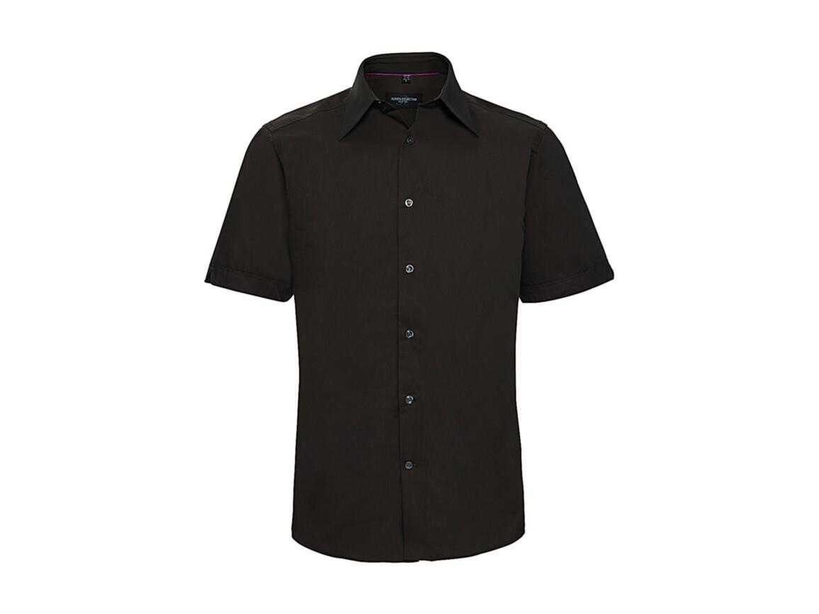 Russell Europe Tencel® Fitted Shirt, Chocolate, 2XL bedrucken, Art.-Nr. 755007017