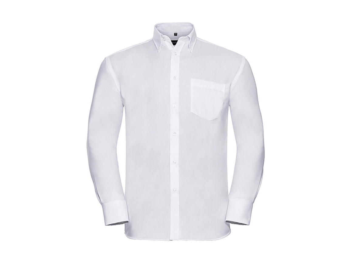 """Russell Europe Men`s LS Ultimate Non-iron Shirt, White, 4XL/19.5"""" bedrucken, Art.-Nr. 756000007"""