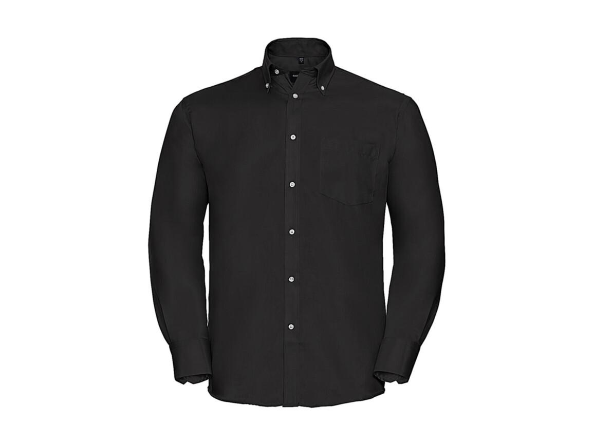 """Russell Europe Men`s LS Ultimate Non-iron Shirt, Black, XL/17.5"""" bedrucken, Art.-Nr. 756001014"""