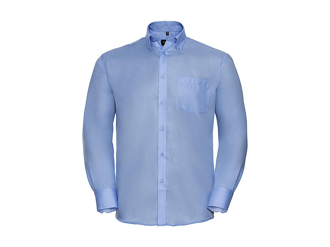 """Russell Europe Men`s LS Ultimate Non-iron Shirt, Bright Sky, 2XL/18"""" bedrucken, Art.-Nr. 756003105"""