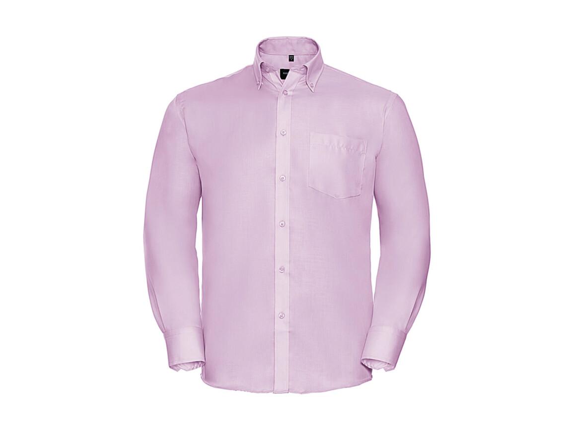 """Russell Europe Men`s LS Ultimate Non-iron Shirt, Classic Pink, S/15"""" bedrucken, Art.-Nr. 756004201"""