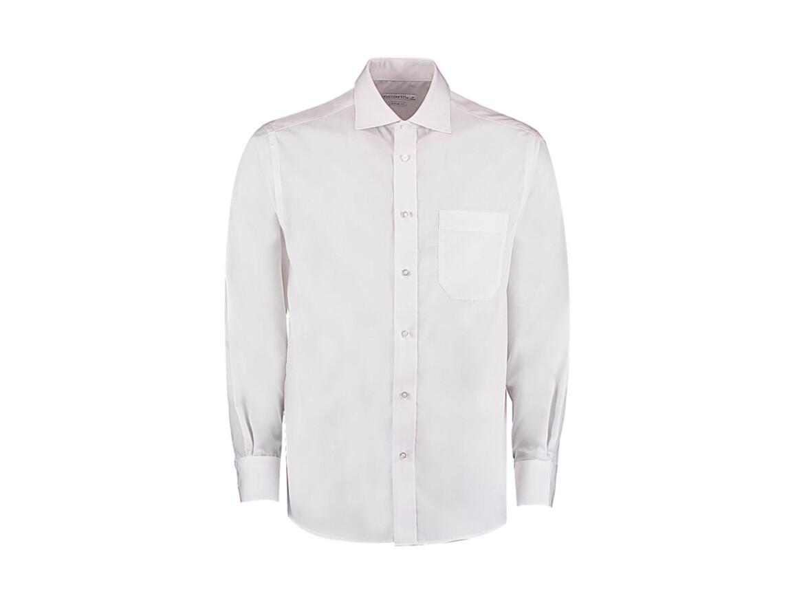 Kustom Kit Classic Fit Non Iron Shirt, White, L bedrucken, Art.-Nr. 756110004