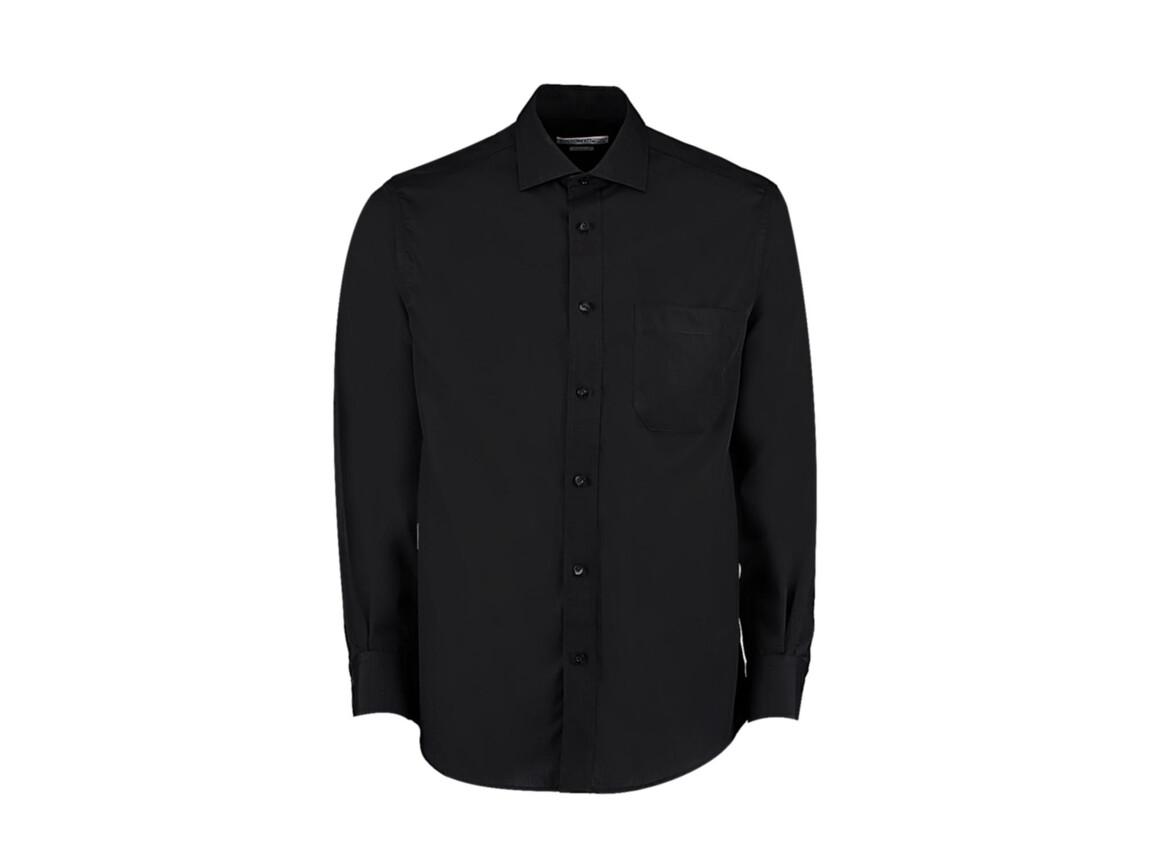 Kustom Kit Classic Fit Non Iron Shirt, Black, 2XL bedrucken, Art.-Nr. 756111018
