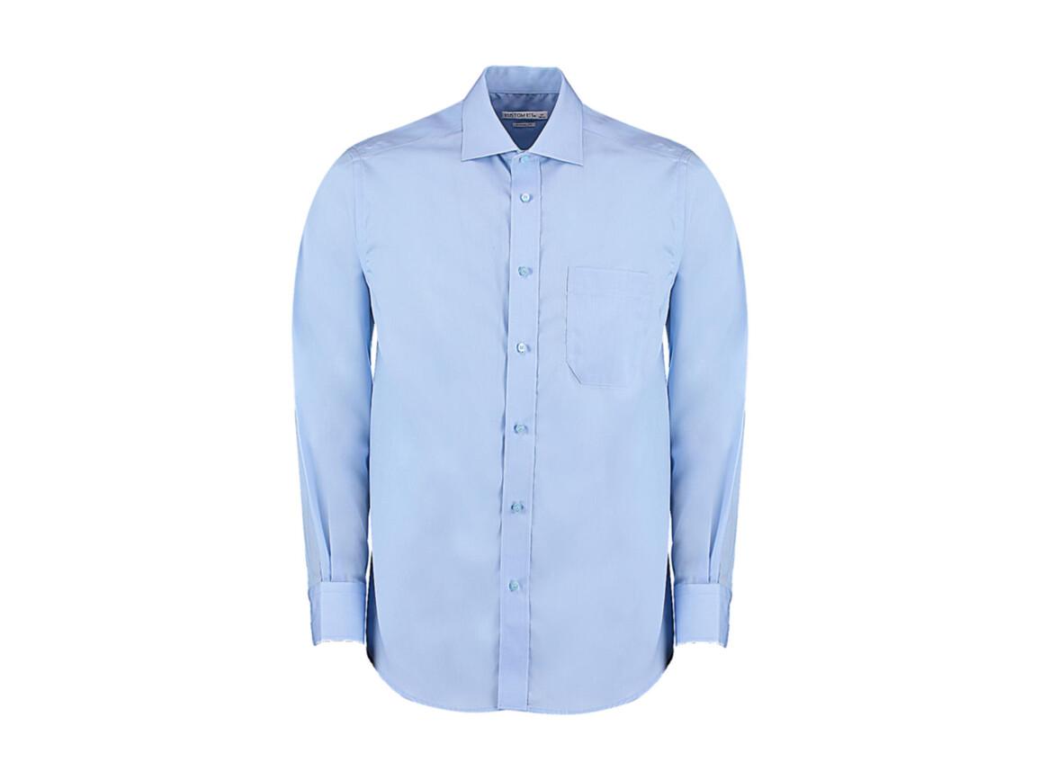 Kustom Kit Classic Fit Non Iron Shirt, Light Blue, M bedrucken, Art.-Nr. 756113212