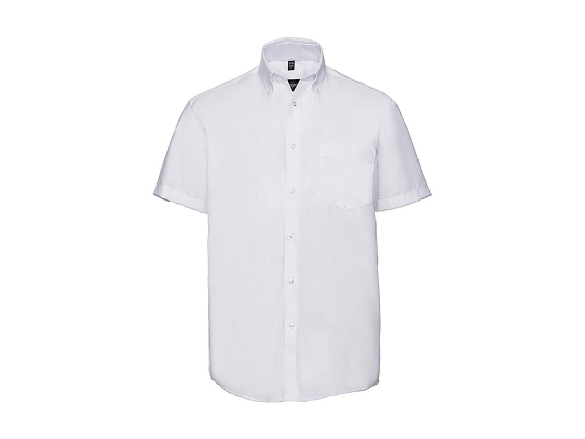 """Russell Europe Men`s Ultimate Non-iron Shirt, White, S/15"""" bedrucken, Art.-Nr. 757000001"""