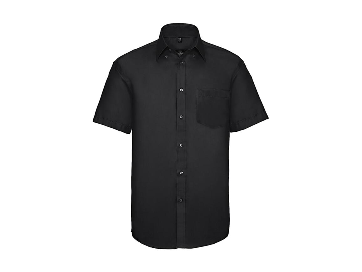 """Russell Europe Men`s Ultimate Non-iron Shirt, Black, 2XL/18"""" bedrucken, Art.-Nr. 757001015"""