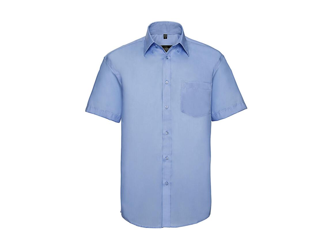 """Russell Europe Men`s Ultimate Non-iron Shirt, Bright Sky, 2XL/18"""" bedrucken, Art.-Nr. 757003105"""