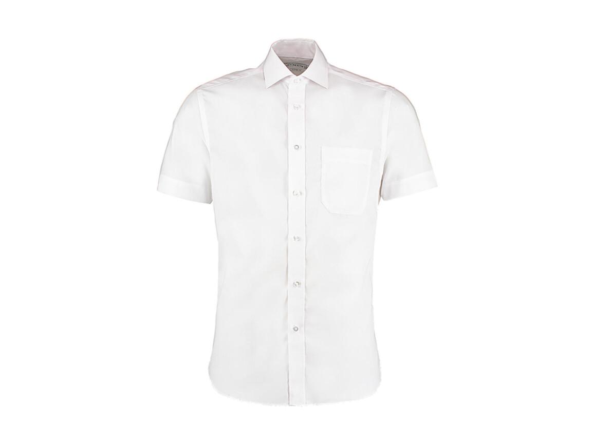 Kustom Kit Classic Fit Non Iron Shirt SSL, White, L bedrucken, Art.-Nr. 757110004