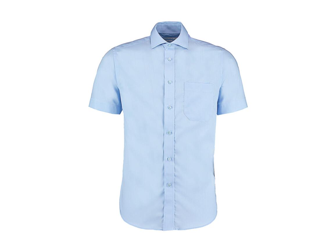 Kustom Kit Classic Fit Non Iron Shirt SSL, Light Blue, M bedrucken, Art.-Nr. 757113212