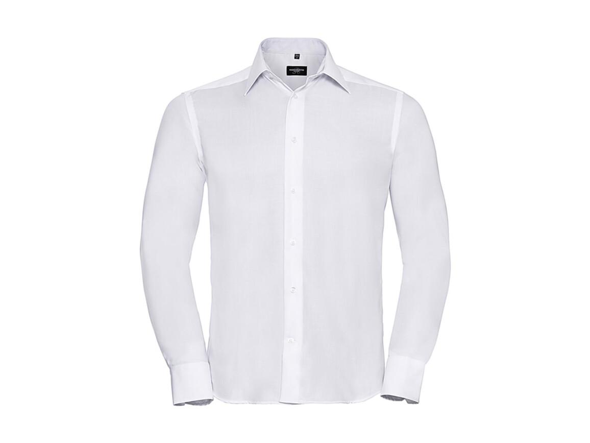 "Russell Europe Tailored Ultimate Non-iron Shirt LS, White, 2XL/18"" bedrucken, Art.-Nr. 758000005"