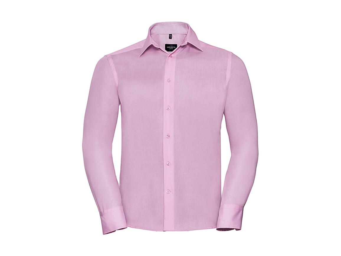 """Russell Europe Tailored Ultimate Non-iron Shirt LS, Classic Pink, 2XL/18"""" bedrucken, Art.-Nr. 758004205"""