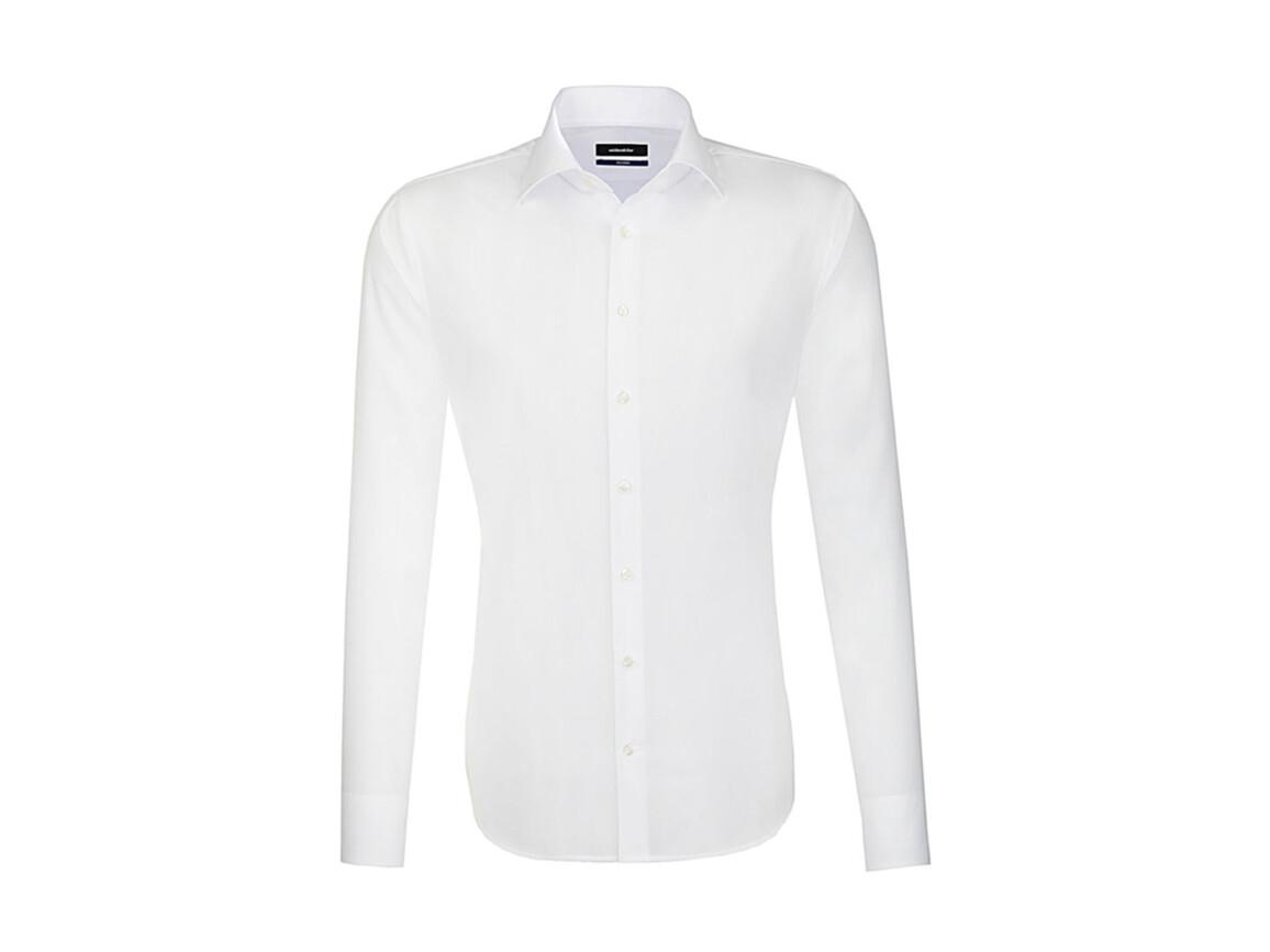 Seidensticker Seidensticker Tailored Fit Shirt LS, White, 43 bedrucken, Art.-Nr. 758200006