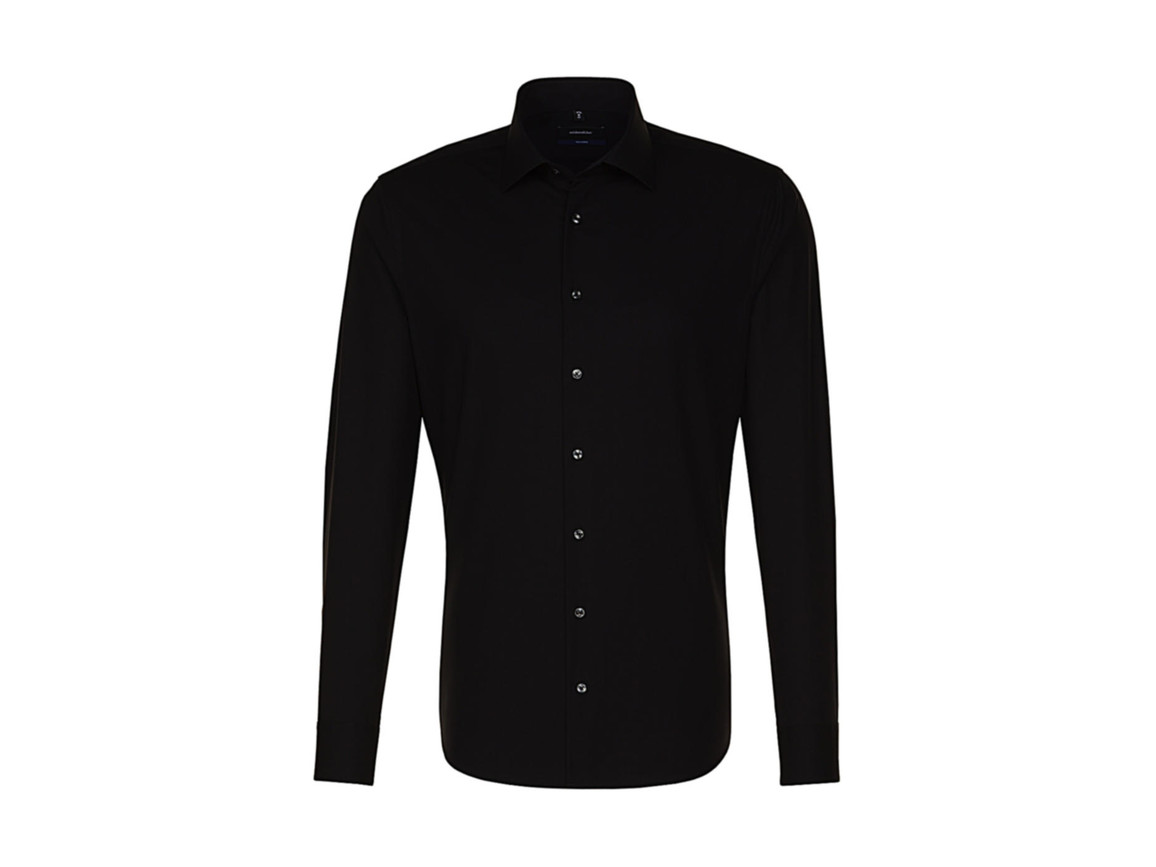 Seidensticker Seidensticker Tailored Fit Shirt LS, Black, 46 bedrucken, Art.-Nr. 758201019