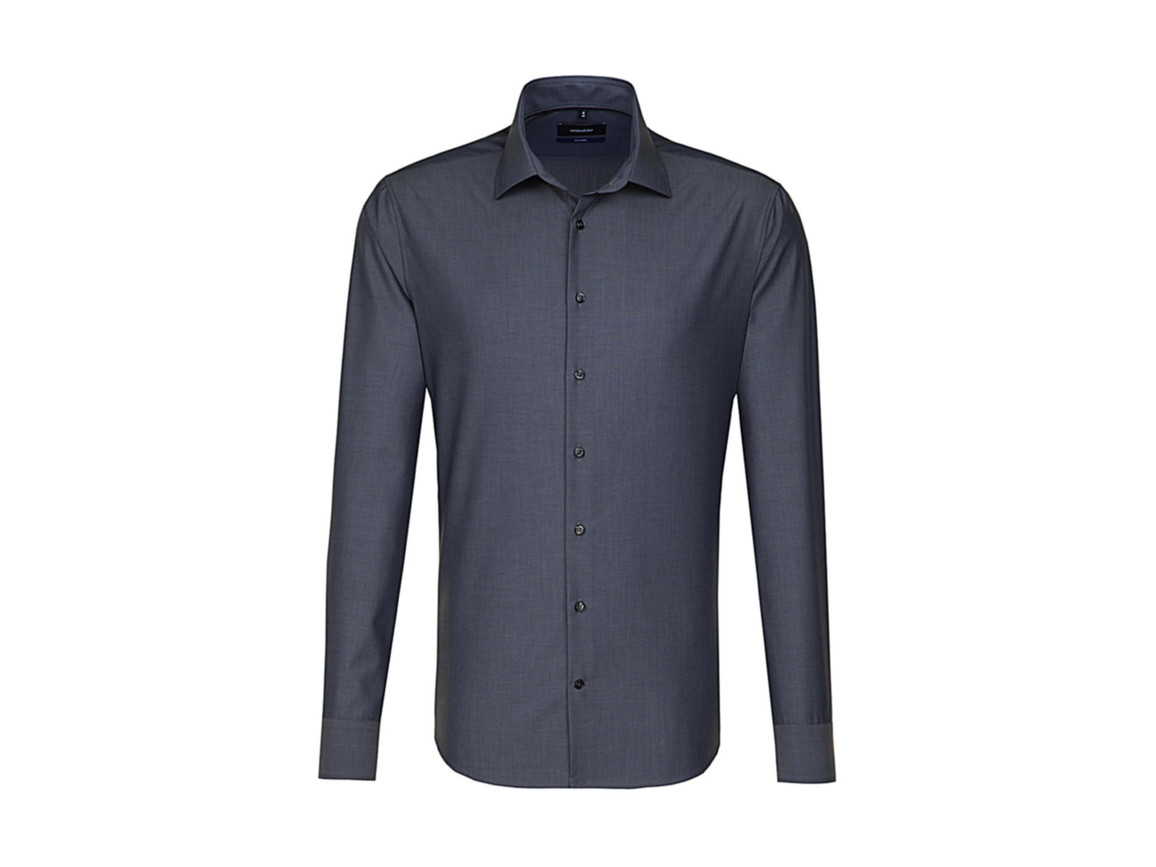 Seidensticker Seidensticker Tailored Fit Shirt LS, Anthracite, 37 bedrucken, Art.-Nr. 758201400